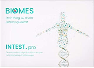 INTEST.pro Análisis de Flora Intestinal- Autoprueba de BIOMES - Comprende tus problemas intestinales, detecta deficiencias inmunológicas, reduce problemas de peso, incl. recomendaciones personalizadas