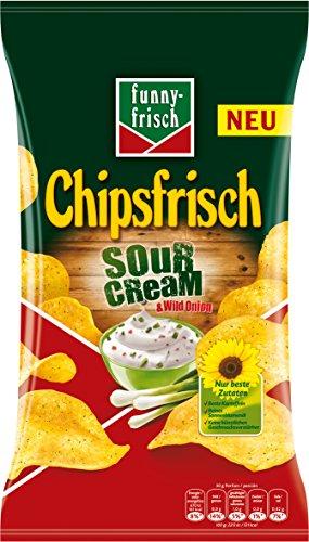 funny-frisch Chipsfrisch Sour Cream und Wild Onion, 10er Pack (10 x 175 g)