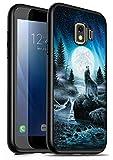 Galaxy J2 Core Case,J2 (2019) Case,J2 Dash Case,J2 Pure Case, Premium TPU Ultra Thin Flexible Shock Absorbent Silicone Rubber Protective Cover for Samsung Galaxy J2 Core, Roaring Wolf