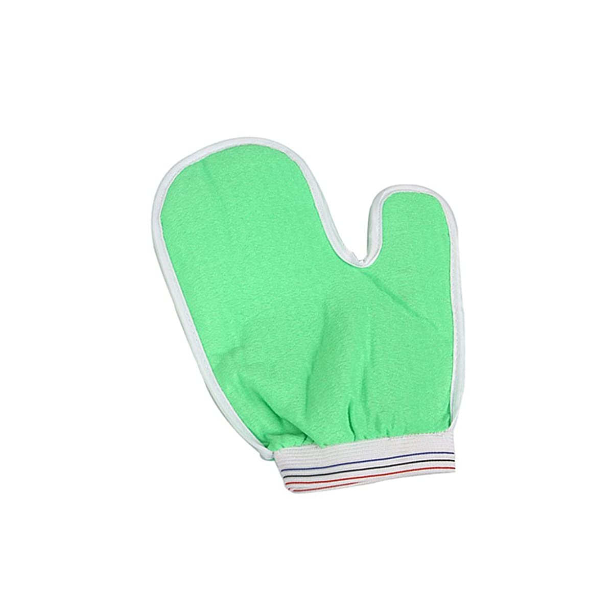 Heallily Bathシャワースポンジグローブボディ剥離ミットシャワーボディクリーニングスクラバー(ランダムカラー)