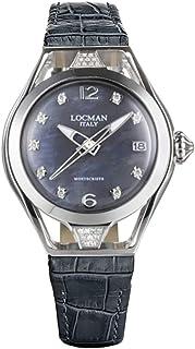 Locman - Italy Reloj de mujer Montecristo Lady gris con diamantes aprox. 0,26 ct. Ref. 0526
