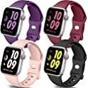 4-Pack Getino Soft Silicone Replacement Bands for Apple Watch
