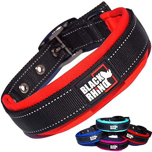 Black Rhino - The Comfort Collar Ultra Soft Neoprene Padded Dog Collar...