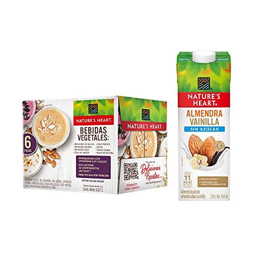 Nature's Heart Bebida de Almendra Vainilla sin azúcar Nature's Heart 6 pack 946ml, Almendra/Vainilla, 6 litros