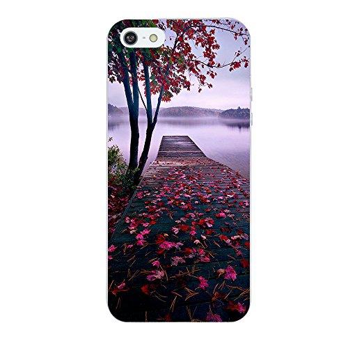 Caler Funda iPhone SE 5S 5 carcasa de silicona TPU ultra fina antiarañazos funda protectora suave funda protectora para...
