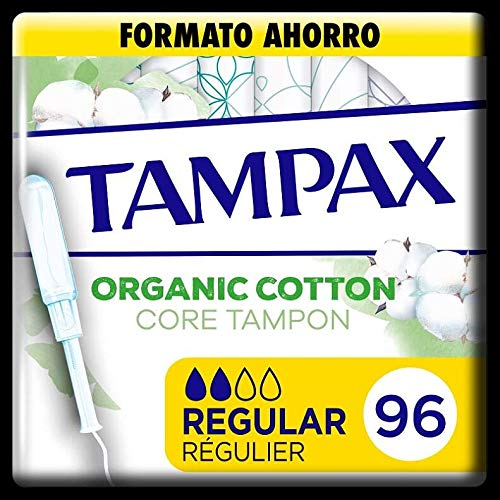 Tampax Cotton Protection Regular mit Applikator, Bio-Baumwolle, 96 Stück, 900 g