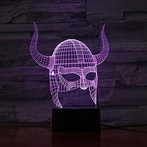 Decoración de arte tridimensional colorida lámpara de mesa 3D efecto de luz visual control remoto mejor luz de noche decorativa LED | regalo de fiesta de cumpleaños para los amantes de los niños