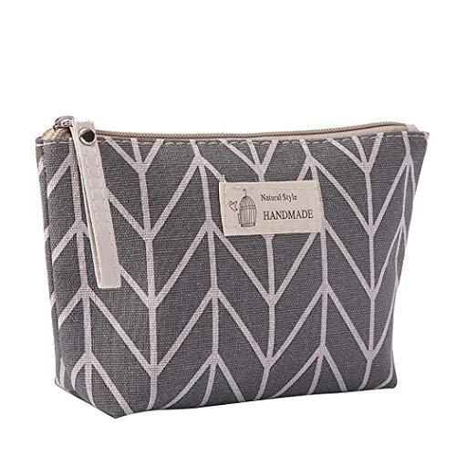 Purcon Portable Large Capacity Print Cosmetic Bag Travel Makeup Bag Toiletry Bags 8.3 x 5.1inch