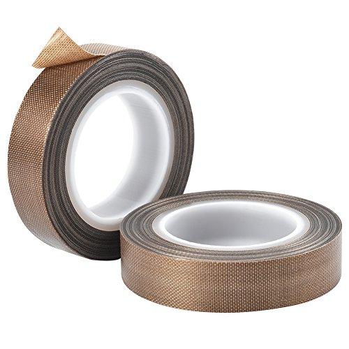 Cizen 2 Stück Teflon Band, 10M Hochtemperaturband PTFE Teflonband Vakuum Maschine Sealer Tape für Vakuum Handimpulse