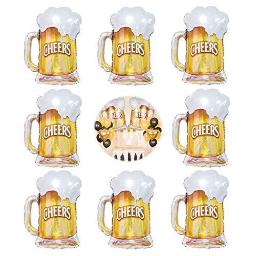 Set de DecoracióN de Botellas de ChampáN Globos de Cerveza Conjunto de Globo de Aire Globos de Cóctel para el Día de San Valentín, Cumpleaños, Decoración del Partido 8 Piezas