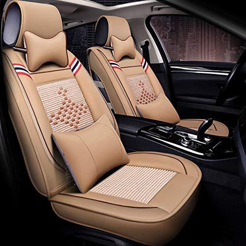 MKJYDM Almohadilla de protección for Cuatro Estaciones del Asiento del automóvil con Almohada Delantera y Trasera. 5 Juegos completos de Cuero Textil Universal Cubierta de Asiento de Carro
