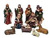 Salvus App SOLUTIONS 10 Piece Resin Christmas Crib Nativity Set Baby Jesus