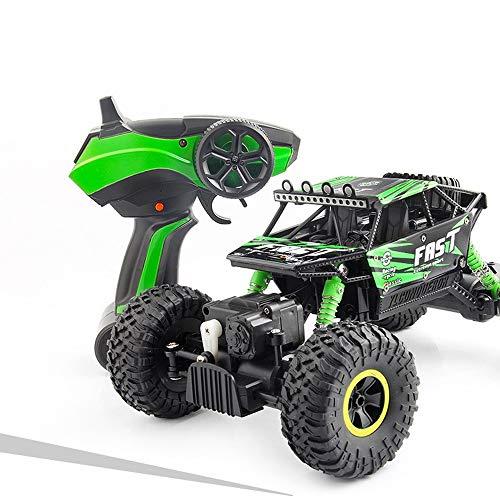 4WD Radio Monster Truck Fernbedienung Auto, Off Road RC Racing Auto 30 km / h Highspeed 2.4 GHz Electric Buggy Crawler Spielzeug Geschenk für Kinder & Erwachsene und Jungen & Mädchen ( Color : Grün )