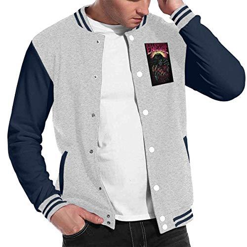 Good4Yours Mode Unisex Baseball Uniform Jacke Sport Mantel Slipknot Herren Damen Erwachsene Sweatshirt Outwear Gr. X-Large, grau