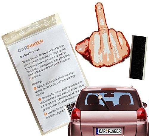 Car Finger Finger, witziges und lustiges Auto - Zubehör für den Scheibenwischer Geburtstag, Führerschein oder andere Feiertage egal ob für Mann, Frau oder Kind