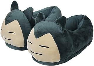 YangQian Chaussures en Peluche Pokemon Pika Pantoufles Taille Adulte Kigurumis Anime Pokemons Chaussures en Peluche Cosplay Festival Mignon antid/érapant Chaussures d/écontract/ées