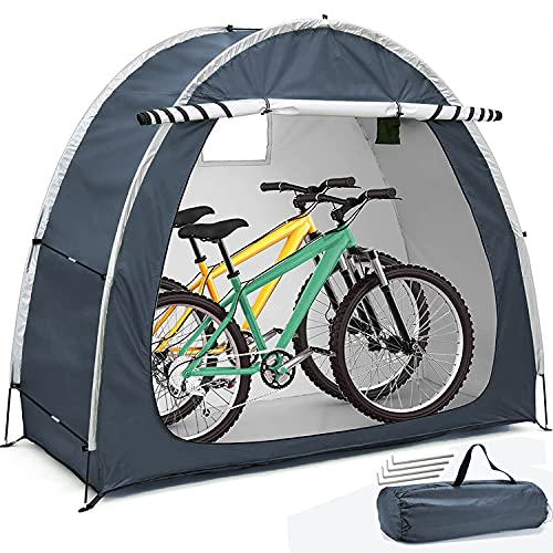 HERAHQ 2021 Neues Fahrradzelt, dauerhafte wetterfeste Fahrradabdeckung, Fahrradaufbewahrung Schutzhülle Zeltschuppen für Garten/Outdoor/Home Shelter (Zwei Farben)
