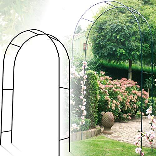 Rankhilfe aus Metall (140 x 38 x 240 cm) / Rosenbogen/Torbogen/Blumen Pergola/Rosen Spalier