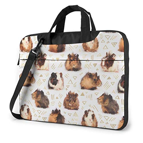 Laptop Bag Satchel Tablet,Guinea Pig Pattern Laptop Shoulder Bag,Laptop Shoulder Bag For Business Casual or School With Shoulder Straps & Handle