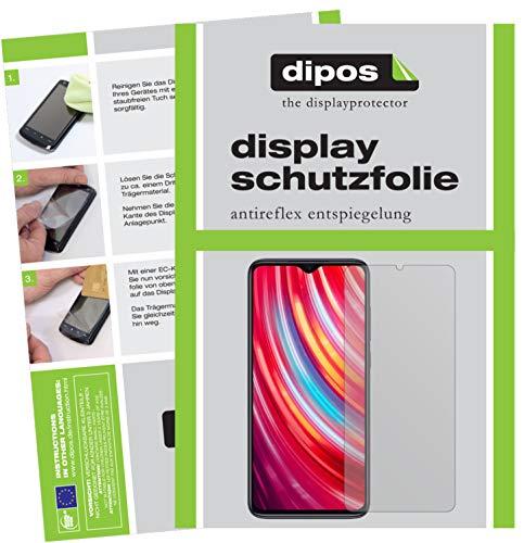 dipos I 5X Schutzfolie matt kompatibel mit Xiaomi Redmi Note 8 Pro Folie Bildschirmschutzfolie (bewusst Kleiner als das Glas, da Dieses gewölbt ist)