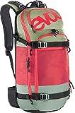 EVOC Sports GmbH Protektor Rucksack FR Pro Team, olive/ruby, 56 x 27 x 14 cm, 20 Liter