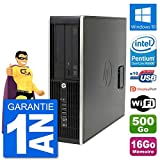 HP PC Compaq Pro 6300 SFF Intel G630 RAM 16Go Disque Dur 500Go Windows 10 WiFi...