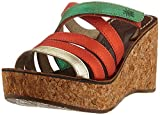 FLY London Gove620fly, Mules Mujer, Multicolor (Gold/Red/Green 000), 38 EU