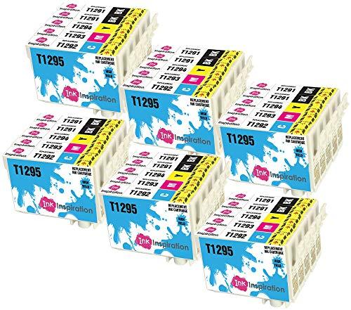 INK INSPIRATION® Ersatz für Epson T1291-T1294 (T1295) Druckerpatronen 30er-Pack, kompatibel mit Epson Stylus SX235W SX425W SX435W SX445W SX525WD BX305FW BX635FWD Workforce WF-3520DWF WF-3540 WF-7515