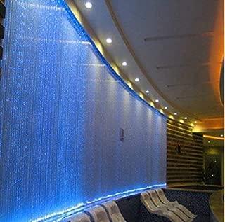 CHINLY 16W Remote RGBW fiber optic curtain light 300pcs 1.0mm flash point 9.8ft waterfall sensory light kit
