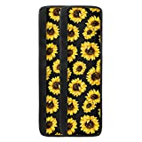 wooden appliance cover - chaqlin Sunflower Refrigerator and Door Handle Covers Kitchen Appliance Protective Gloves Anti-Slip Decor for Ovens Microwaves Black Gift