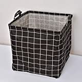 Kcakek Tela hogar cesta de lavadero plegable de almacenamiento de la caja de juguetes de múltiples funciones de almacenamiento de escritorio Caja Organizador de escritorio multifuncional Home Office S