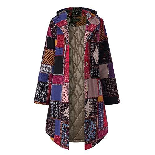 Winterjack Parka dames warme outwear bloemenprint met capuchon zakken vintage oversize modieuze complete coats jassen winter anorak vrouwen vachtcapuchon winter oversize outwear sweaters gebreide trui