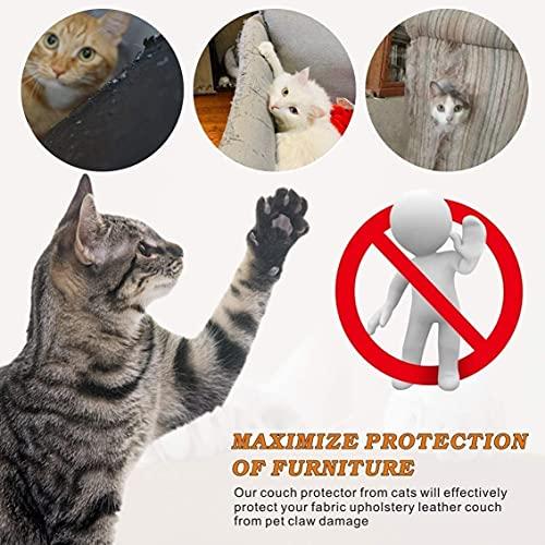 Diko 8 Pezzi di Protezione per Divano Antigraffio per Gatti,Copridivano e Protezione per Mobili,Protezione Graffi Gatto,Copridivano Autoadesivo in PVC Trasparente Antigraffio per Gatti e Cani