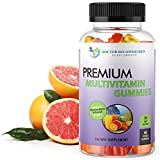 Multivitamin Gummies for Adults and Kids with Vitamin A, C, D3, E, B6, B12, Biotin and Zinc with No High Fructose Corn Syrup, Gluten or Artificial Sweeteners - 60 Gummy Vitamins, Full 30-Day Supply