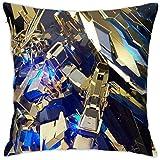 ガンダム枕カバー 装飾スロー枕 ブラック スパンコール枕 クッション?クッション 誕生日プレゼント 装飾枕 正方形 シンプル 枕 抱き枕 ファスナー式 背当て抱き枕 のホットスタンピング クッション 装飾枕 スロー枕 ソファ パターン 家庭用 ソファー 座布団 45x45cm