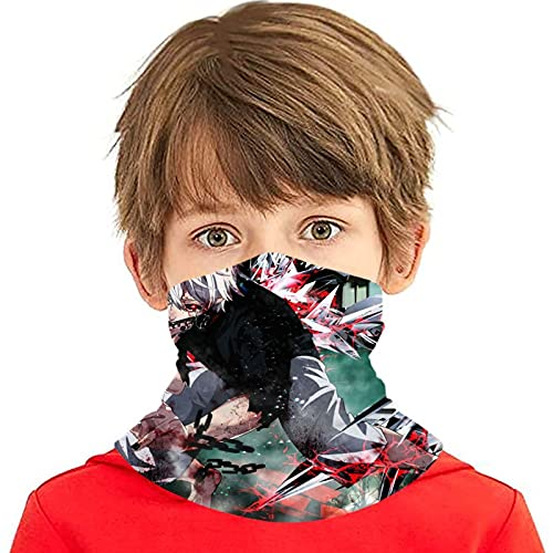 LAOLUCKY Tokyo Ghoul - Polaina para cuello con 6 filtros de protección UV para la cara de seda de hielo, a prueba de viento, bandanas transpirables para deportes al aire libre uso diario