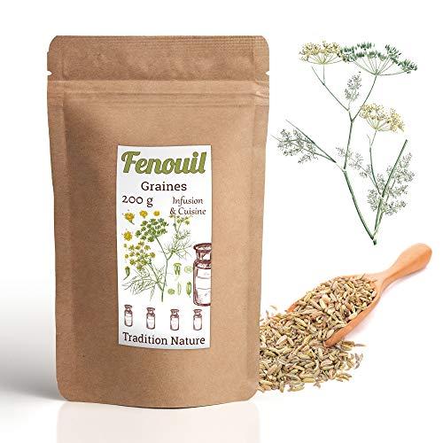 Fenouil graines 200 g | Infusion et Cuisine | Complément allaitement traditionnel 🌱 Tradition Nature
