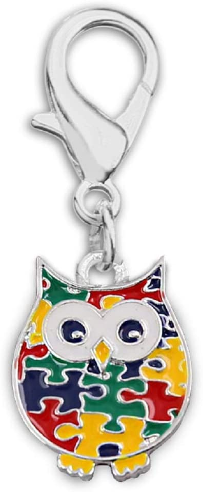 Fundraising For A Max Sale SALE% OFF 65% OFF Cause Autism Puzzle Owl Charms Hanging with
