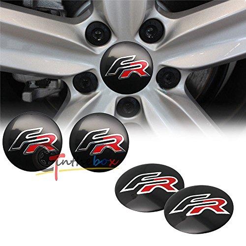 AOWIFT 4 x 56,5 mm FR Logo Seat Aluminium Auto Rad Center Nabenkappen Embleme Aufkleber