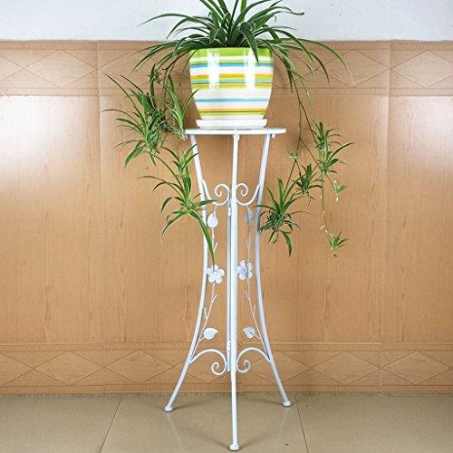 CKH Européenne En Fer Forgé Fleur Plancher Pliant Intérieur Salon Balcon Simple couche Vert Jonquilles Bois Fleur Étagère Fleur Pot Rack