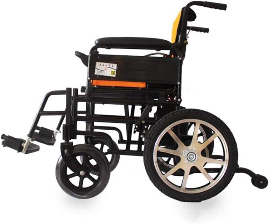 WBJLG Silla de Ruedas eléctrica Plegable, Potente, Potente y compacta, Silla de Ruedas de Ayuda a la Movilidad, Silla de Ruedas motorizada de Transporte Plegable y Liviana para discapacitados y PE