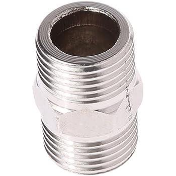Conector macho de rosca macho Conector de tuber/ía de acero inoxidable Conector de tubo de rosca macho industrial doble para la manguera Cola Tubo macho 10mm