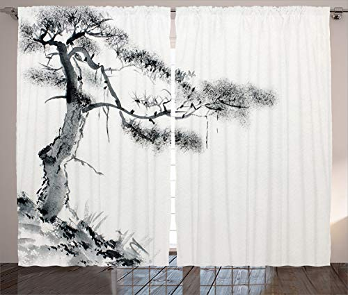 Ambesonne Asian Curtains