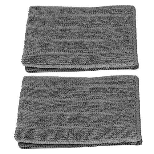 Emoshayoga Torre de limpieza gris toalla de secado rápido durable 10pcs 30x30cm para la superficie de limpieza para la cocina baño uso