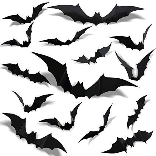 120pcs Halloween 3D Bat Wall Sticke…