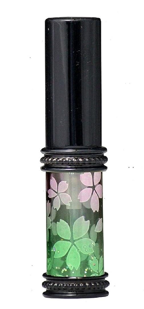 責任者伝統的海ヒロセアトマイザー メタルラメさくらアトマイザー 16178 PK/GR(メタルラメさくら ピンク/グリーン) 真鍮玉レット飾り付