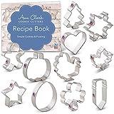 Ann Clark Cookie Cutters Juego de 11 cortadores de galletas para todas las estaciones con libro de recetas, calabaza, pavo, estrella, trébol, huevo de Pascua, hombre de jengibre y más