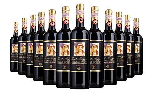 Chianti Classico Riserva di Montemaggio - Vino Rosso Toscano Biologico DOCG Gallo Nero - Fattoria di Montemaggio - Annata 2012 – 0.750 L - 24 bottiglie