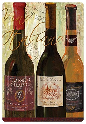 Metalen bord 20x30cm Vino Italiaanse wijn uit Italië bord Tin Sign
