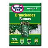 Handy Bag 1 Rouleau de 8 Sacs 150 L, Pour Branchages, Poignées Souples, Très résistant, Ouverture Large, 93 x 92 cm, Vert